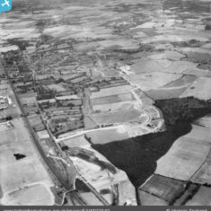 The Monkswood Estate in the early stages of construction and environs, Stevenage, 1950