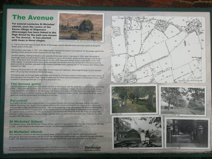 An information board about The Avenue | Tony Collman