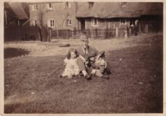 The Johnson family on Ditchmore Common c. 1925