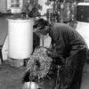 Albert Burrett working in Boiler House at Visqueen