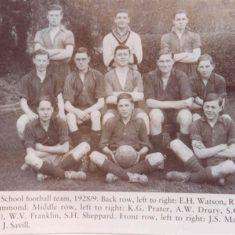 The football team in the 1928-29 season