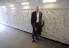 William Mitchell visits Stevenage