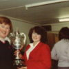 Keith and Jackie Burners with the UCL Cup