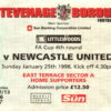 Match Ticket: Stevenage Borough v Newcastle United