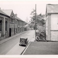 Orchard Road - the large building on the left is the old Town Hall   C.A.Hawkes