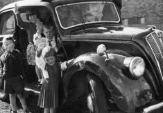Having fun in the new play car 1964
