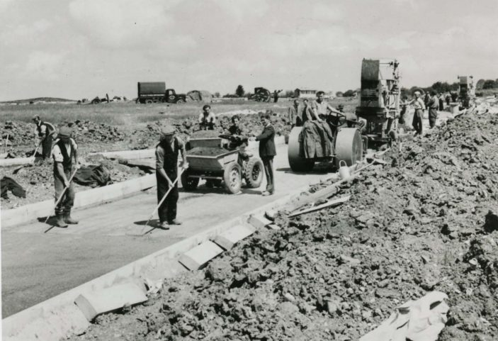 The construction of Whomerley Road. 1951 | Stevenage Museum P11842