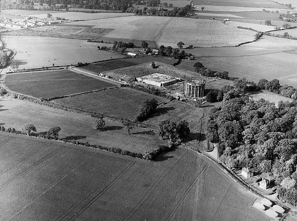Aerial view of Pin Green in 1955 | Stevenage Museum P12794