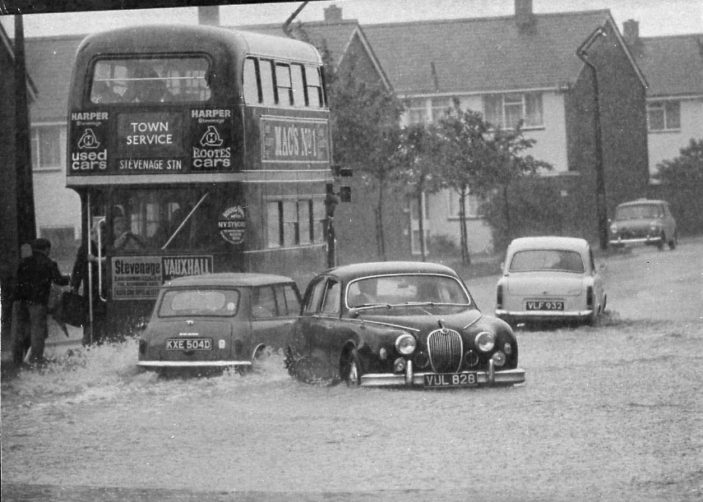 Floods in Bedwell Crescent.1968 | Stevenage Museum P13233