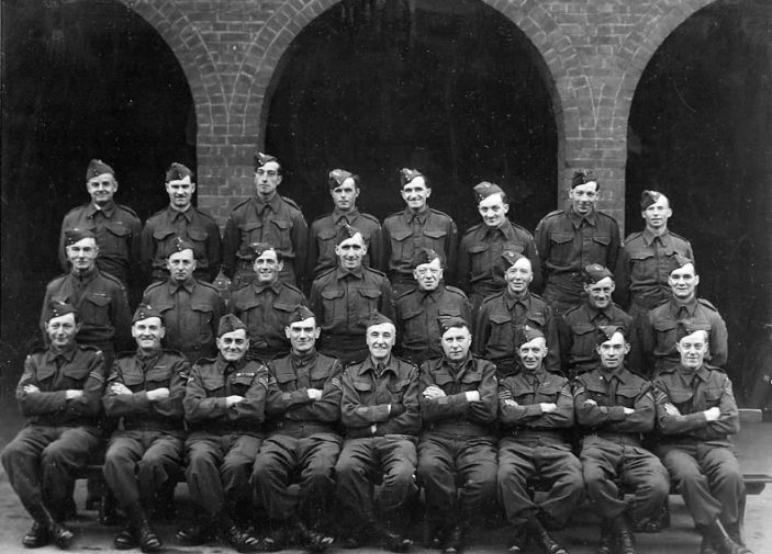 Stevenage Home Guard at Alleyne's School. 1943 | Stevenage Museum. P1636