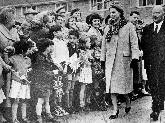 Queen Elizabeth II visiting the New Town in April 1959 | Stevenage Museum P3249