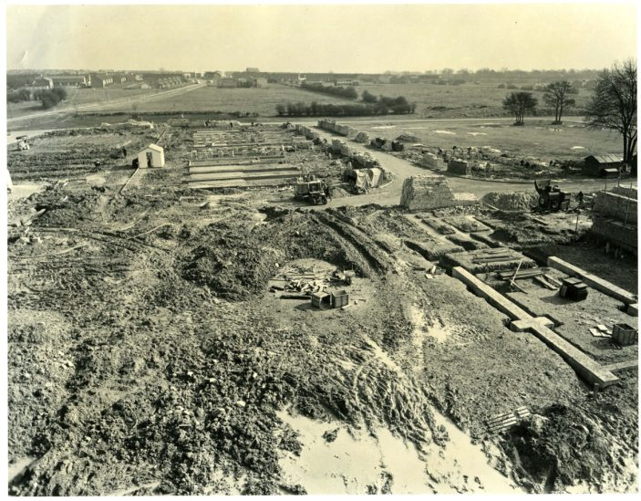 Stevenage Town Centre under construction in 1957 | Stevenage Museum. P3775