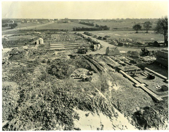 Stevenage Town Centre under construction in 1957 | Stevenage Museum. P3775