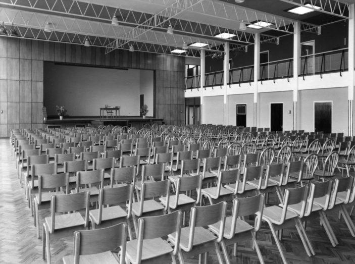 Stevenage Girls' Grammar School Hall. Photo taken in 1958 | Stevenage Museum. P3899