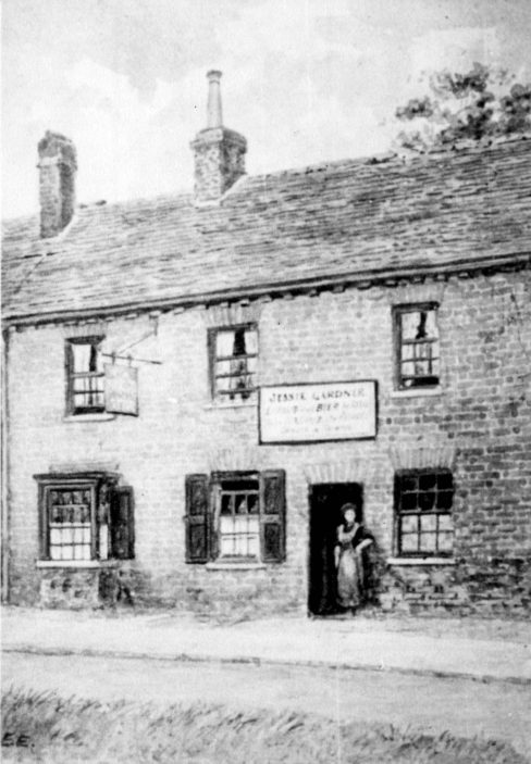 No 12, the North Star Pub c1910. In 1911 it was run by four sisters aged only 13-29 after the death of their parents. | From the Stevenage Museum collections (P55)
