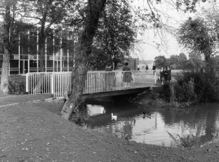 Barnwell School duckpond 1961 | Stevenage Museum P7008