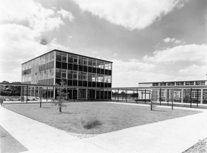 Exterior View of Nobel School. Photo taken in 1963 | Stevenage Museum. P7180