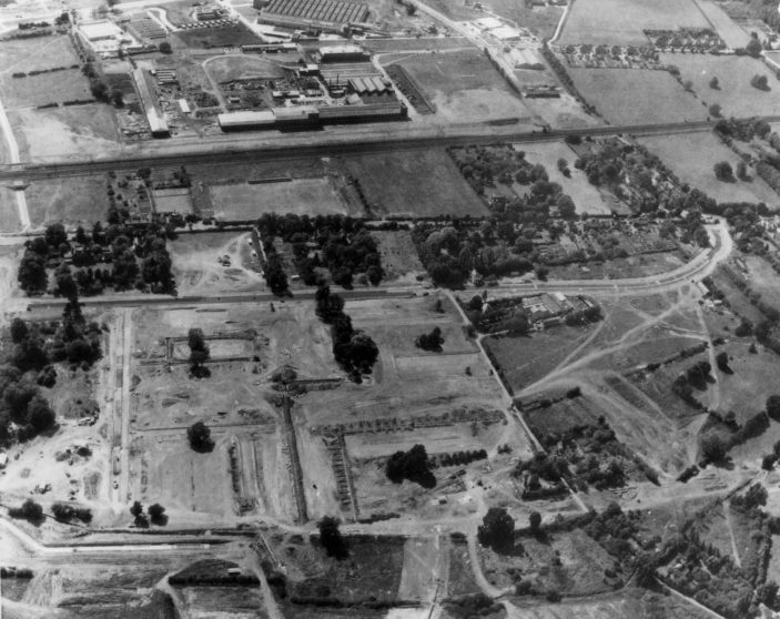 Aerial view of the town centre site | Stevenage Museum P7461