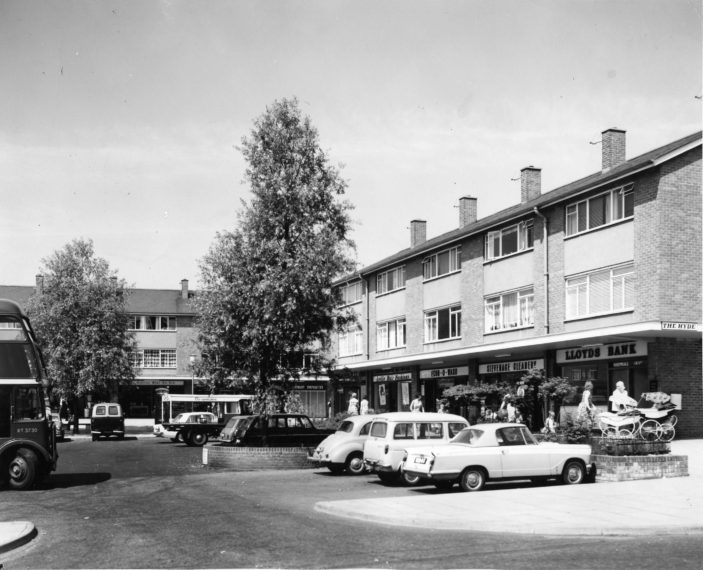 The Hyde Shopping Centre c. 1965 | Stevenage Museum P7545