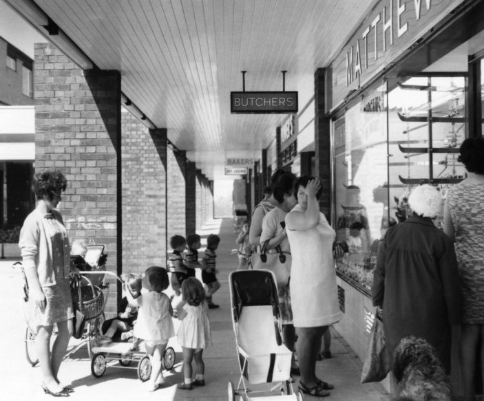 The Oval Shops. Photo taken in 1969 | Stevenage Museum. P7627