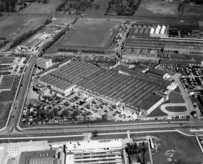 Aerial view of British Aerospace in 1966 | Stevenage Museum P7644