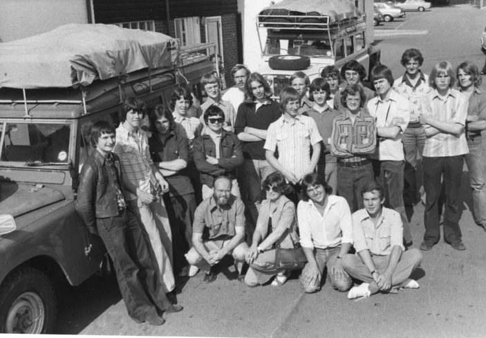 Alleyne's School party setting off on an expedition August 1975 | Stevenage Museum PP1353