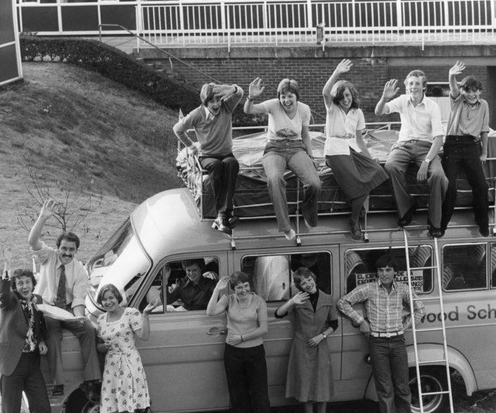 Collenswood School visit to Europ 1976