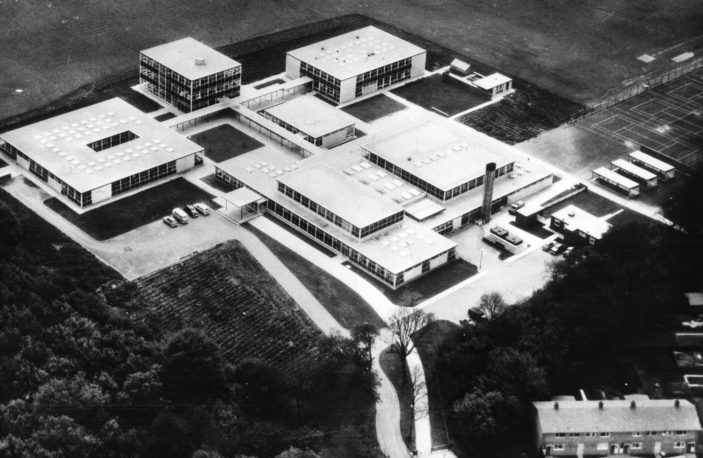 Aerial view of Nobel School in 1963 | Stevenage Museum PP1473