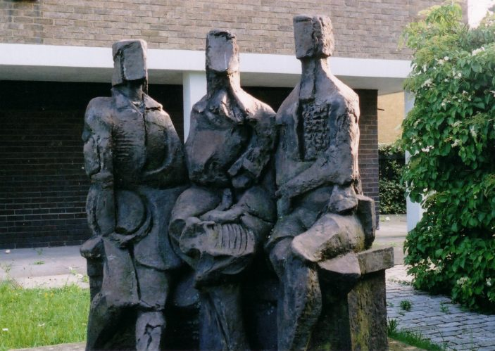 Seated Figures, by David Noble   Pauline Maryan
