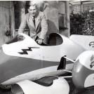 World record holder, at factory, 1955 | John Bland