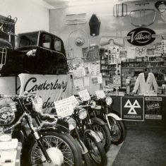 Mr Greenshields in the shop