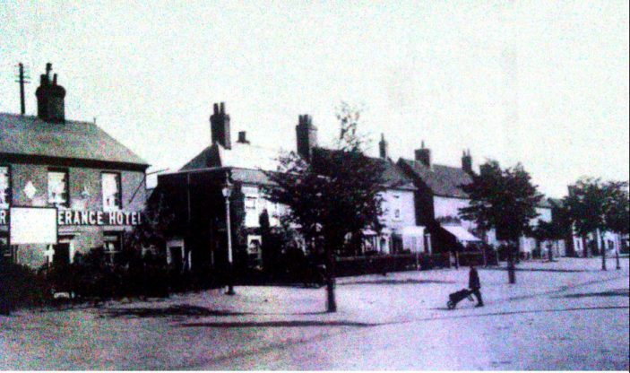 High Street, Stevenage, at the start of the 20th century. The building on the left is No 27, the Temperance Hotel | Stevenage Museum